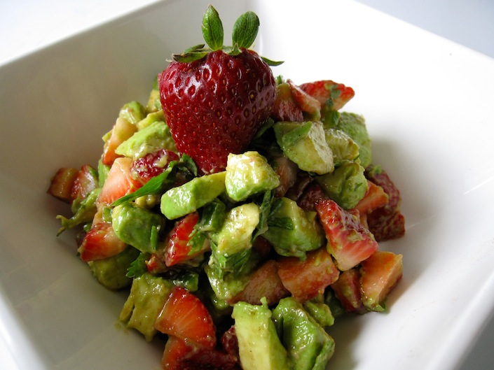 Organic Strawberry and Avocado Salad Recipe