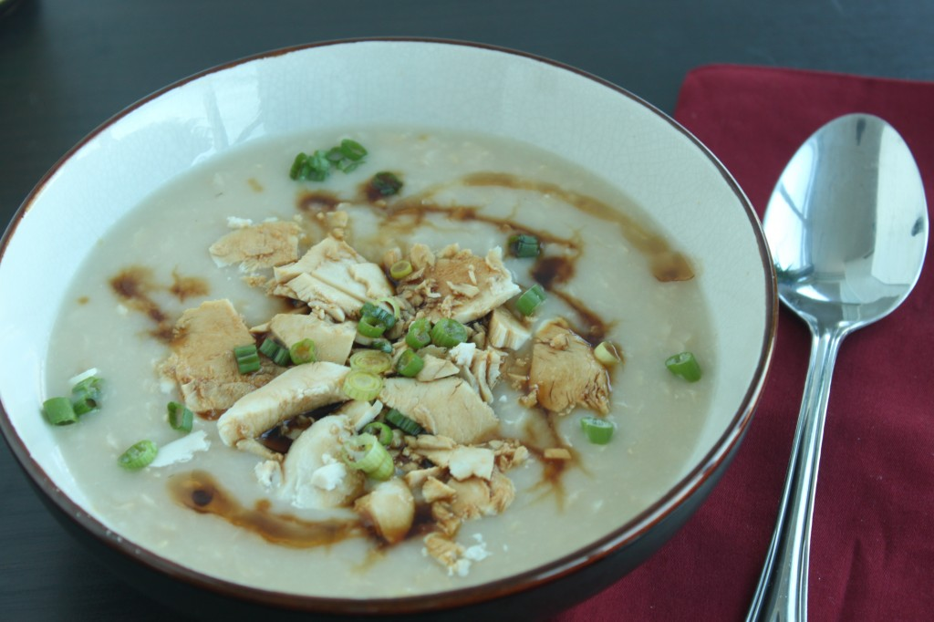 Brown rice chicken congee - a true comfort food!