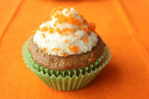Icing the Carrot Cake Cupcakes