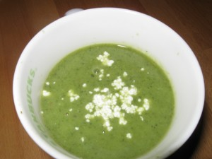 Vegan/Paleo Zucchini Cilantro Lime Soup