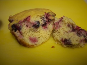 Lemony Cranberry Muffins