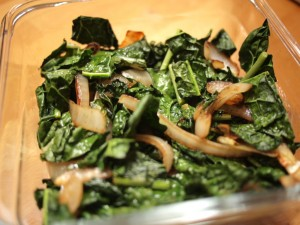 Sauteed Kale and Caramelized Onions