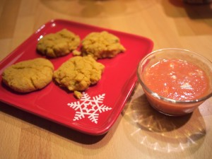 Tomato Soup with Pumpkin Cheddar Biscuits by Kim!