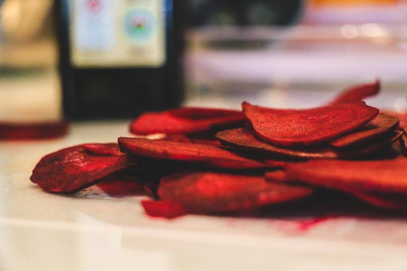 Crispy Rosemary Beet Chips