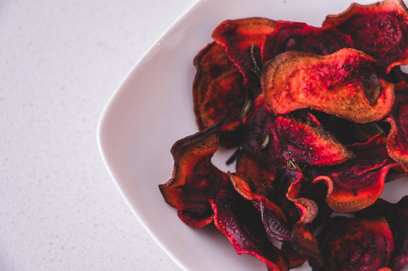 Crispy Rosemary Beet Chips