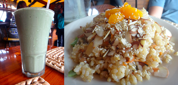 shake and rice bowl